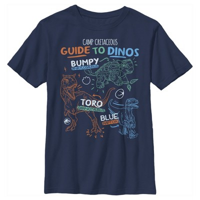 Boy's Jurassic World: Camp Cretaceous Guide to Dinos T-Shirt