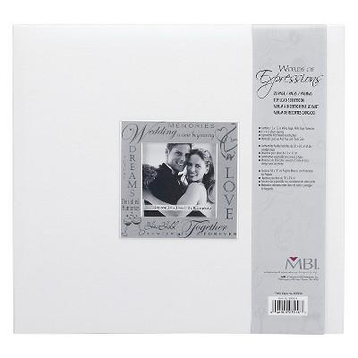 Fabric Expressions Wedding Photo Album - White (8.5x8.5 )
