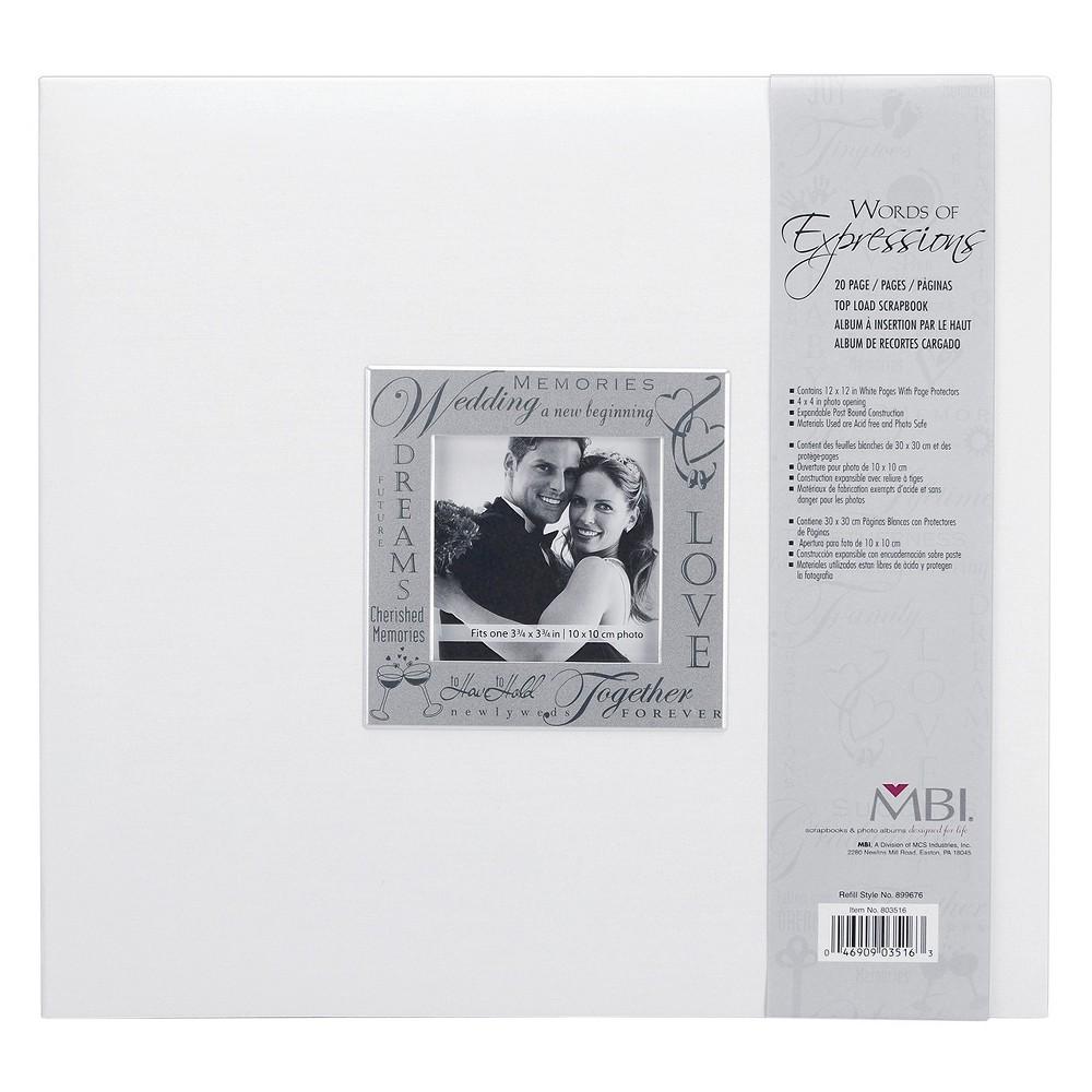 Image of Fabric Expressions Wedding Photo Album - White (8.5x8.5)