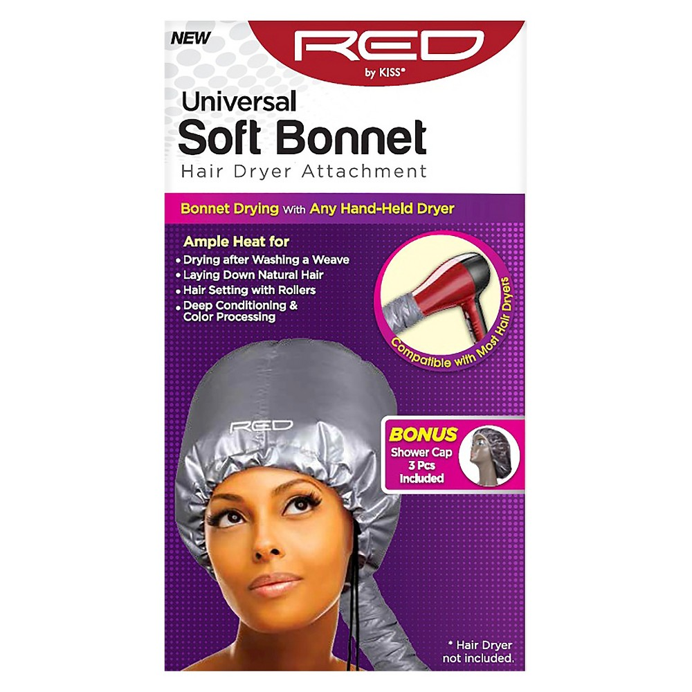 Red by Kiss Nails Soft Bonnet Attachment Hair Dryer, Silver Red By Kiss Soft Bonnet Attachment Color: Silver. Gender: Unisex. Pattern: Solid.