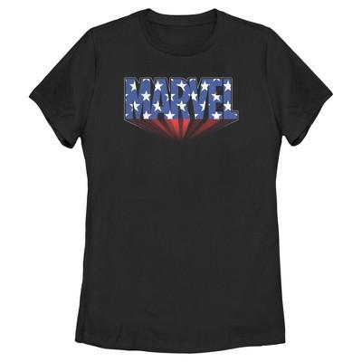 Women's Marvel Classic American Star Logo T-Shirt