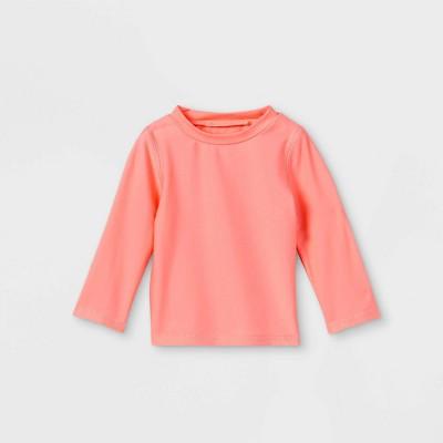 Baby Girls' Long Sleeve Rash Guard Swim Shirt - Cat & Jack™ Coral