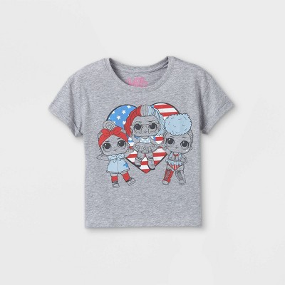 Girls' L.O.L. Surprise! Short Sleeve Graphic T-Shirt - Heather Gray