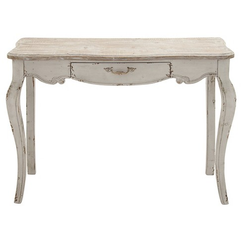 Simple Wooden Console Table Brown - Woodland Imports - image 1 of 1