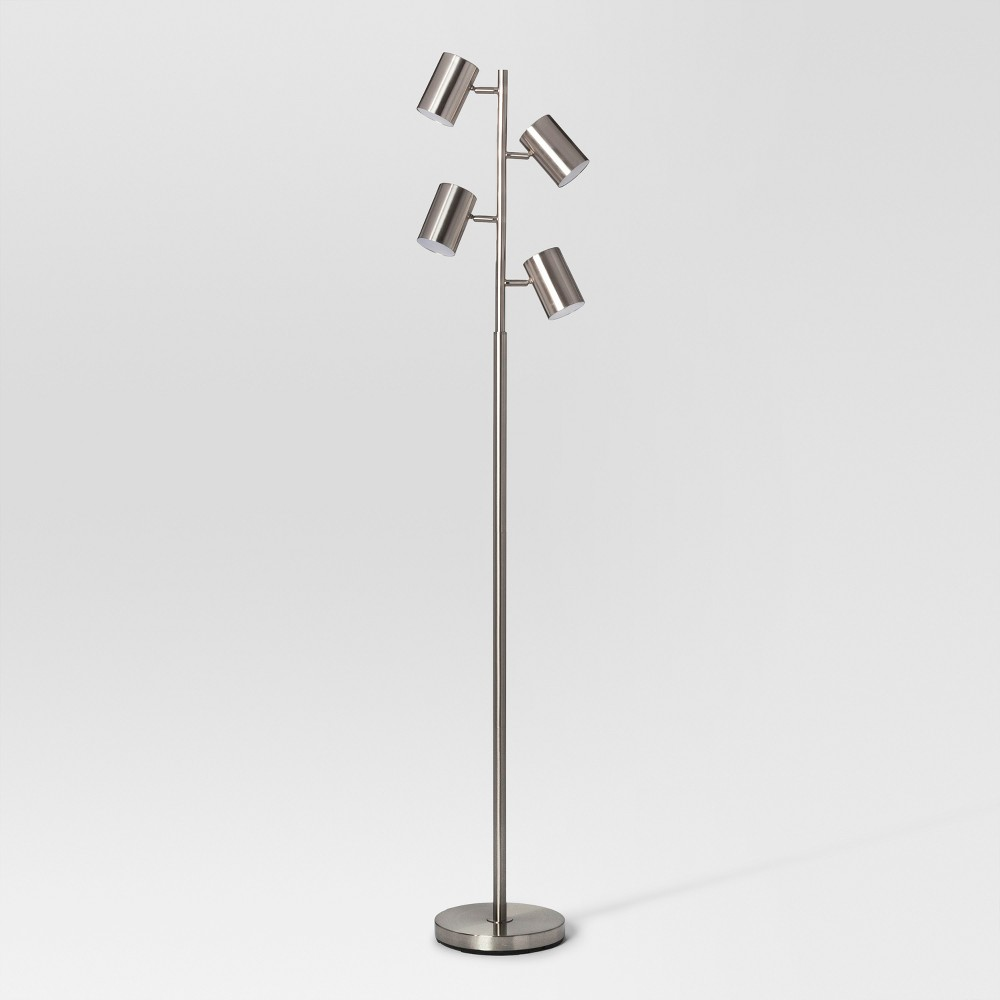 Image of Dean Spotlight Floor Lamp Nickel (Includes Energy Efficient Light Bulb) - Project 62