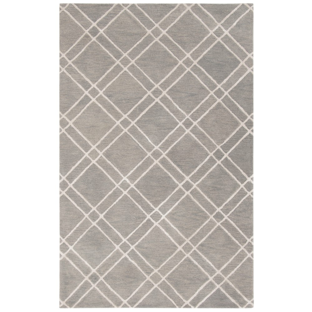 3'X5' Crosshatch Tufted Accent Rug Gray/Silver - Safavieh