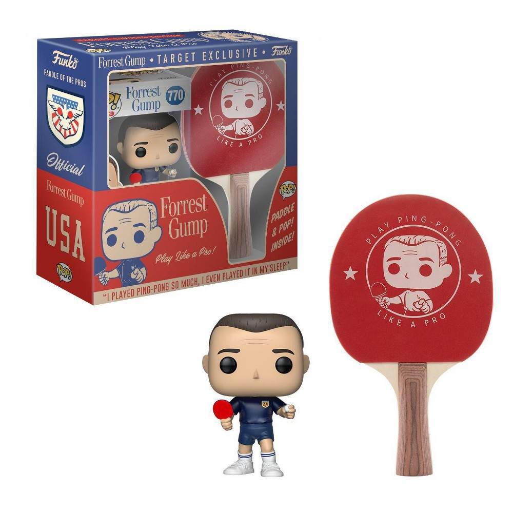 Image of Funko POP! Movies Collectors Box: Forrest Gump (Blue Ping Pong Outfit) POP! & Ping Pong Paddle (Target Exclusive)