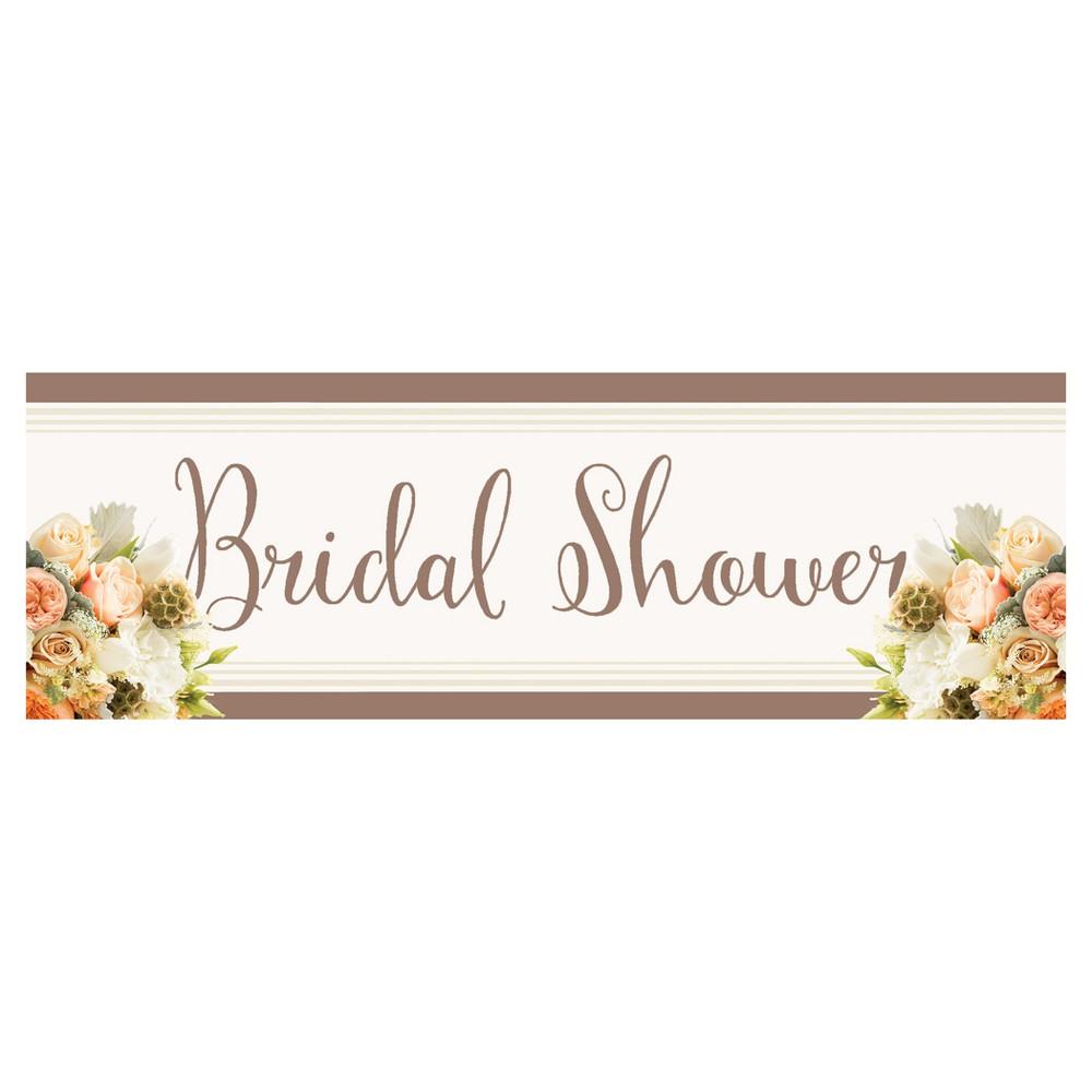 Rose Gold Bouquet Bridal Shower Banner
