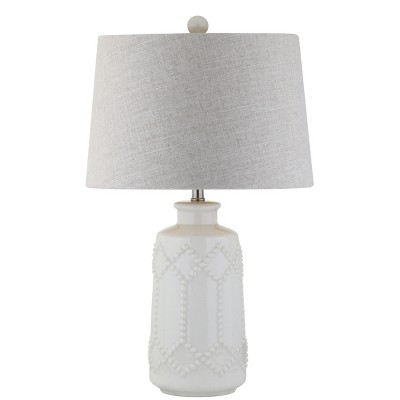26  Alice Ceramic LED Table Lamp Cream (Includes Energy Efficient Light Bulb)- JONATHAN Y