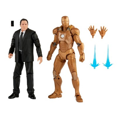 "Hasbro Marvel Legends Series 6"" Happy Hogan and Iron Man Mark 21"