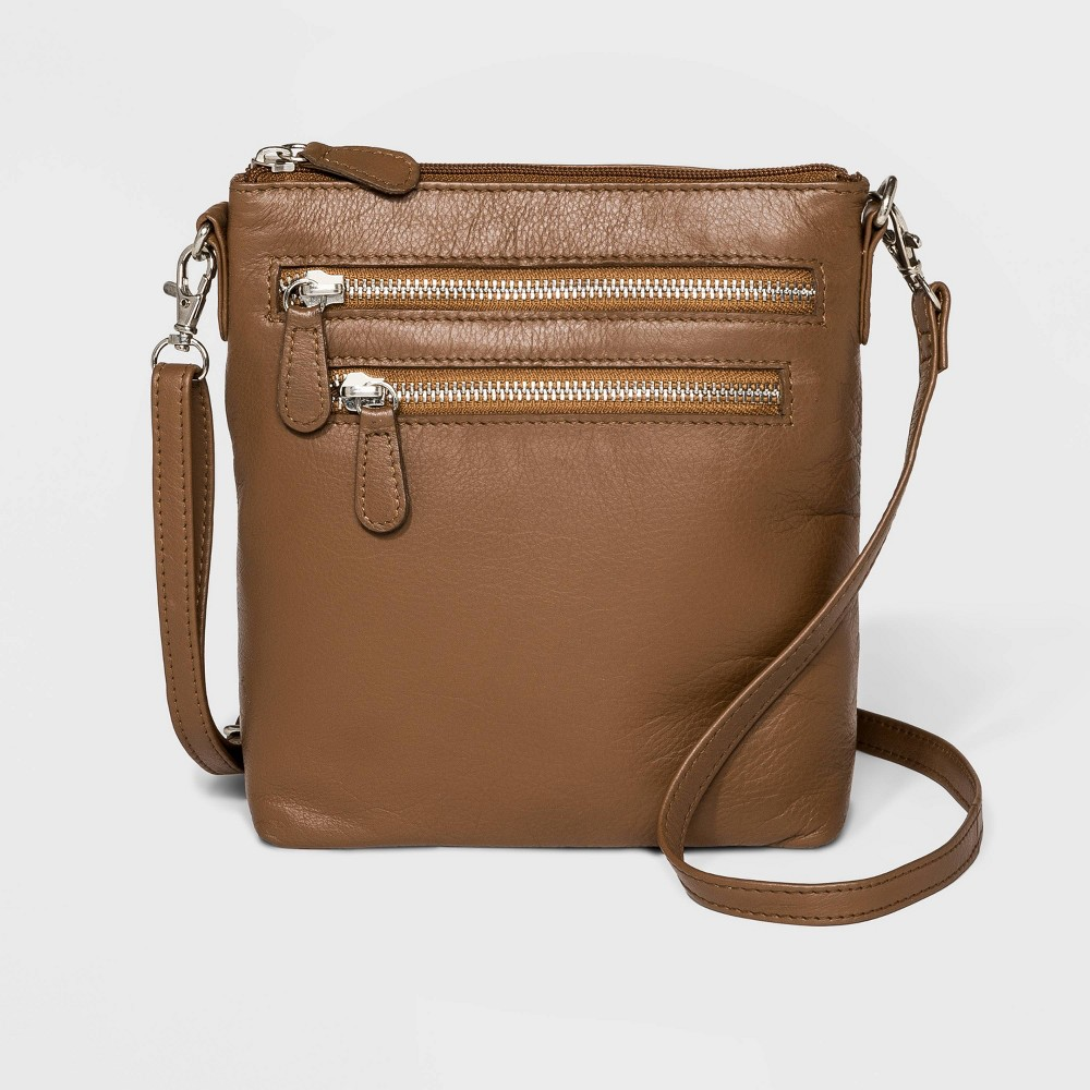 Image of Great American Leather Crossbody Bag - Camel, Women's