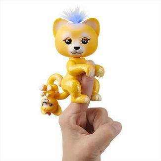 Fingerlings Light-Up Baby Lion and Mini - Sam and Leo - Interactive Toy