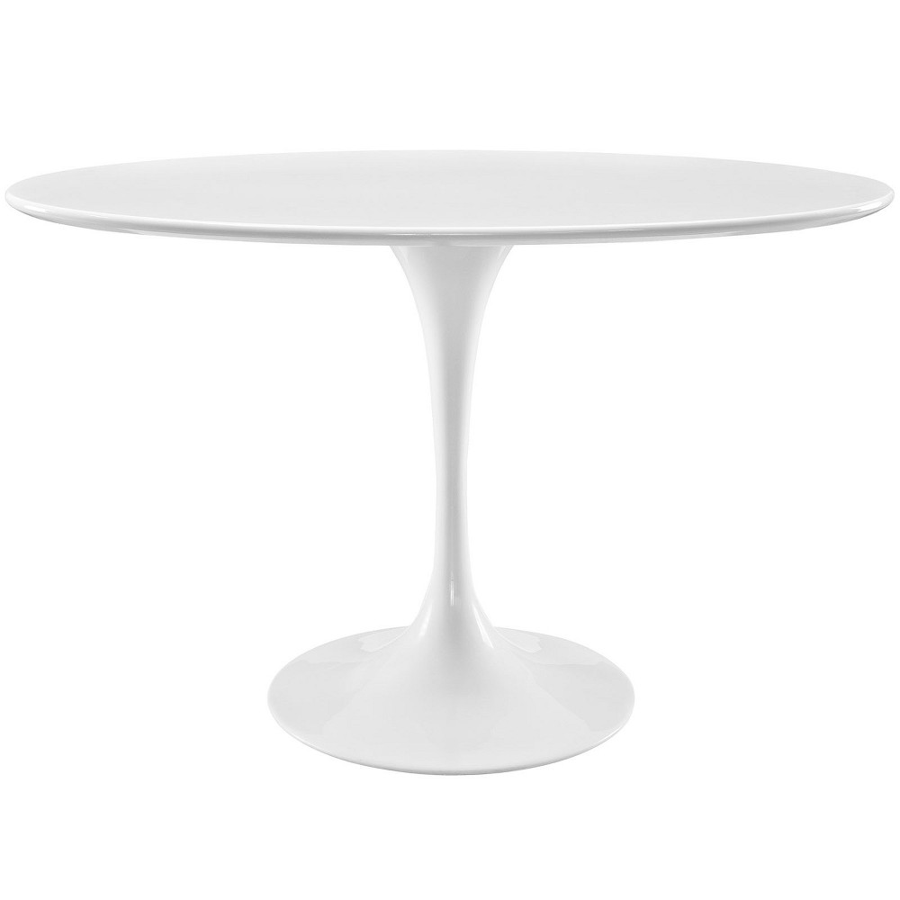 Lippa 48 Oval Wood Top Dining Table White - Modway