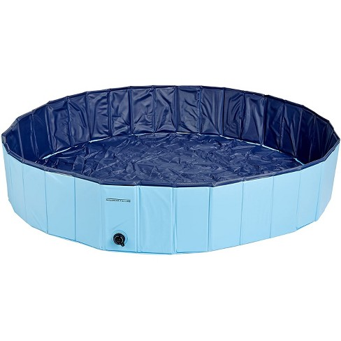 Cool Pup Splash About 63 Inch Diameter 12 Inches Tall Collapsible PVC Outdoor Dog Pet Swimming Pool, 119.25 Gallon, Blue - image 1 of 4