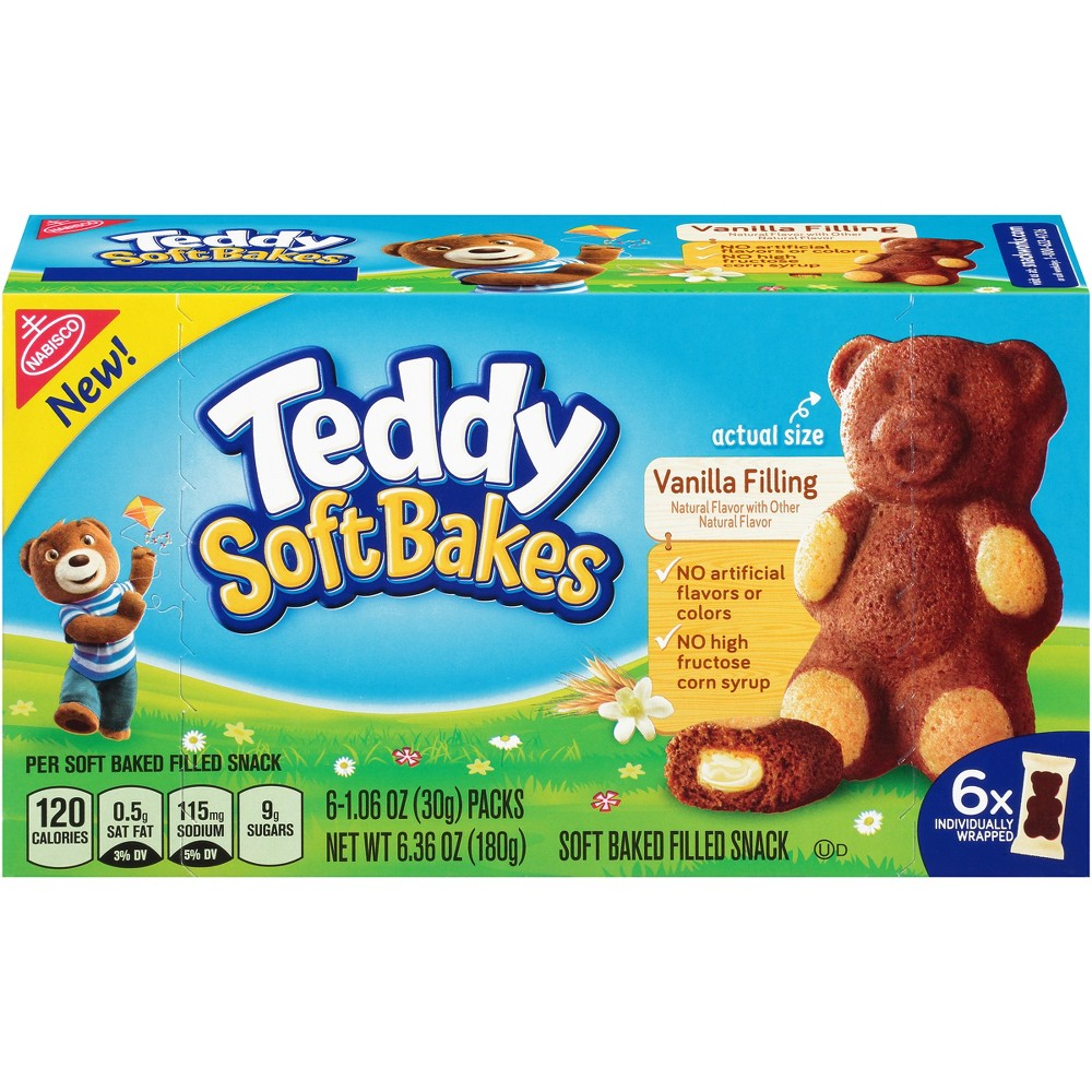 Teddy SoftBakes Snacks Vanilla Filling - 6ct/1.06oz