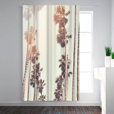 Americanflat Palm by Mina Teslaru Blackout Rod Pocket Single Curtain Panel 50x84