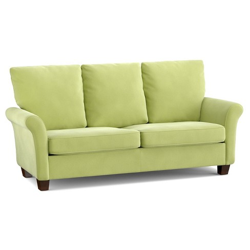Randy Velvet Welted Flaired Arm Sofa -  Handy Living - image 1 of 3