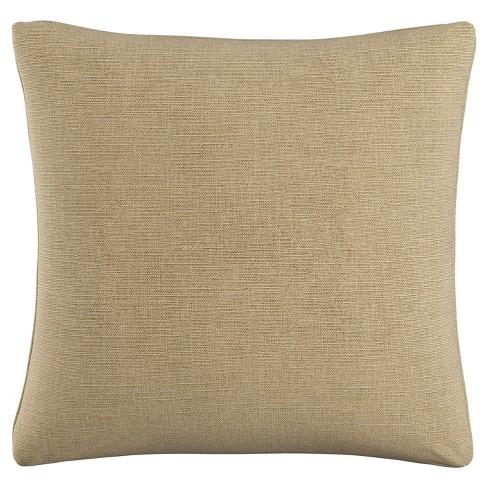 "Tan Linen Polyester Throw Pillow (20""x20"") - image 1 of 4"