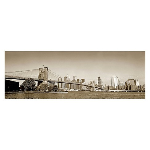 'Brooklyn Bridge' by Preston Ready to Hang Canvas Wall Art - image 1 of 1