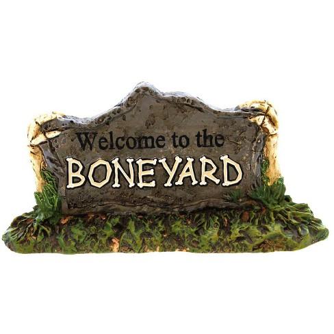 Dept 56 Accessories Welcome To The Boneyard Halloween Sign - image 1 of 2