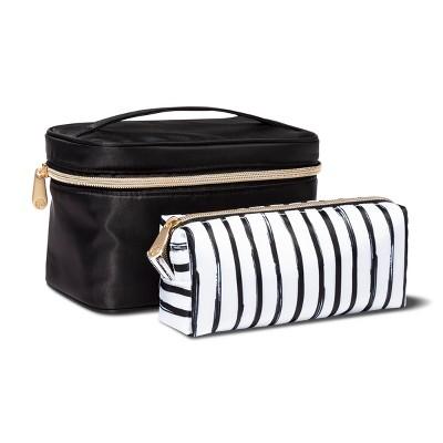 Sonia Kashuk™ Train Case Set Black/Stripe Black - 2pc
