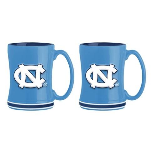 North Carolina Tar Heels Boelter Brands 2 Pack Sculpted Relief Style Coffee Mug - Blue (15 oz) - image 1 of 3