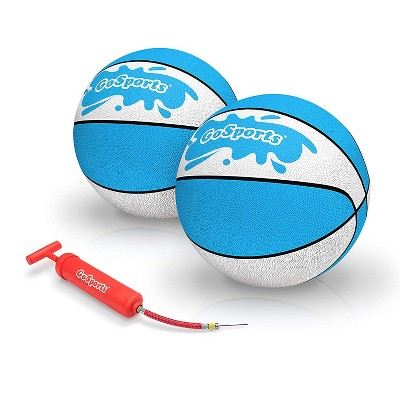 GoSports Anti Slip Water Basketball 9 Inch Hoop Ball with Pump and Needle Set for Adult and Kid Swimming Pool Pickup Games, Size 6 (2 Pack)
