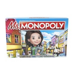 Ms. Monopoly Board Game, board games