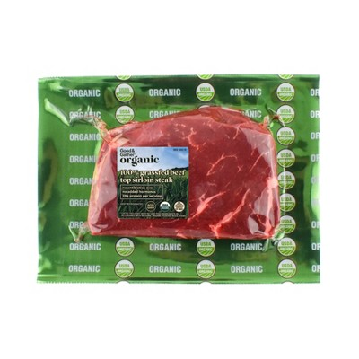 Organic 100% Grassfed Top Sirloin Steak - 0.375-0.75 lbs. - price per lb - Good & Gather™