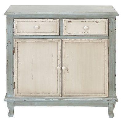 Wood 2 Over 2 Cabinet Buffet Green - Olivia & May