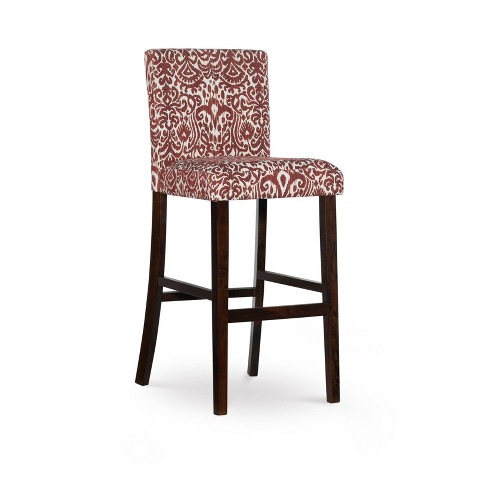 Peachy 30 Morocco Upholstered Barstool Red Linon Unemploymentrelief Wooden Chair Designs For Living Room Unemploymentrelieforg