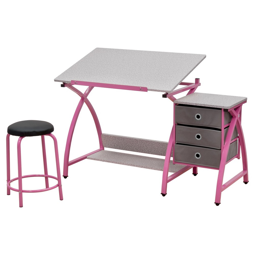 Image of 2pc Canvas & Color Adjustable Top Center Pink/Spatter Gray - Studio Designs