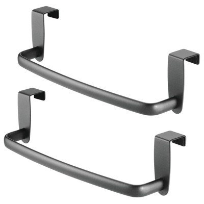 "mDesign Kitchen Over Cabinet Metal Hand Towel Bar, 9.75"" Wide"