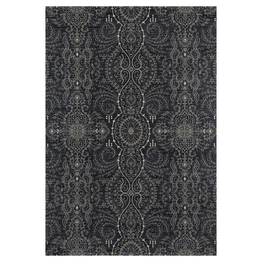 Image of Gray Abstract Woven Area Rug - (6'X9') - Art Carpet