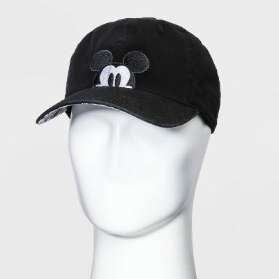 Men's Mickey Mouse Peek A Boo Baseball Cap - Black One Size