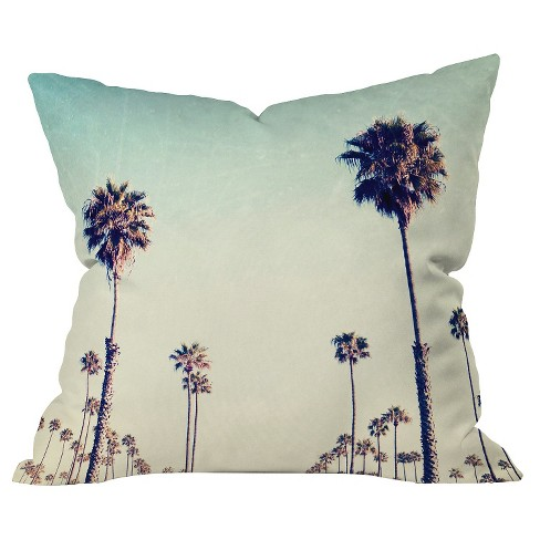 Alabaster California Palm Trees Throw Pillow - Deny Designs® - image 1 of 1