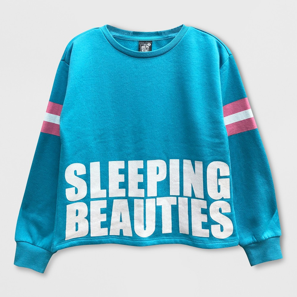 Girls' Disney Wreck-It Ralph Pullover Sweater - Turquoise M, Blue