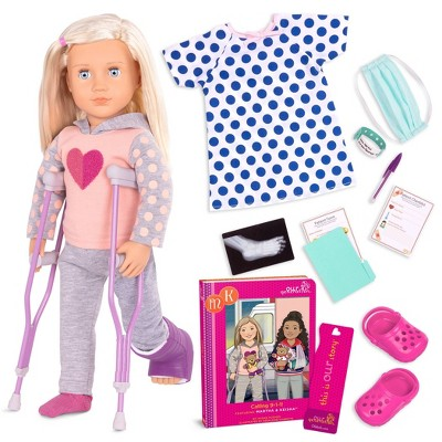 "Our Generation 18"" Hospital Doll with Storybook - Martha"