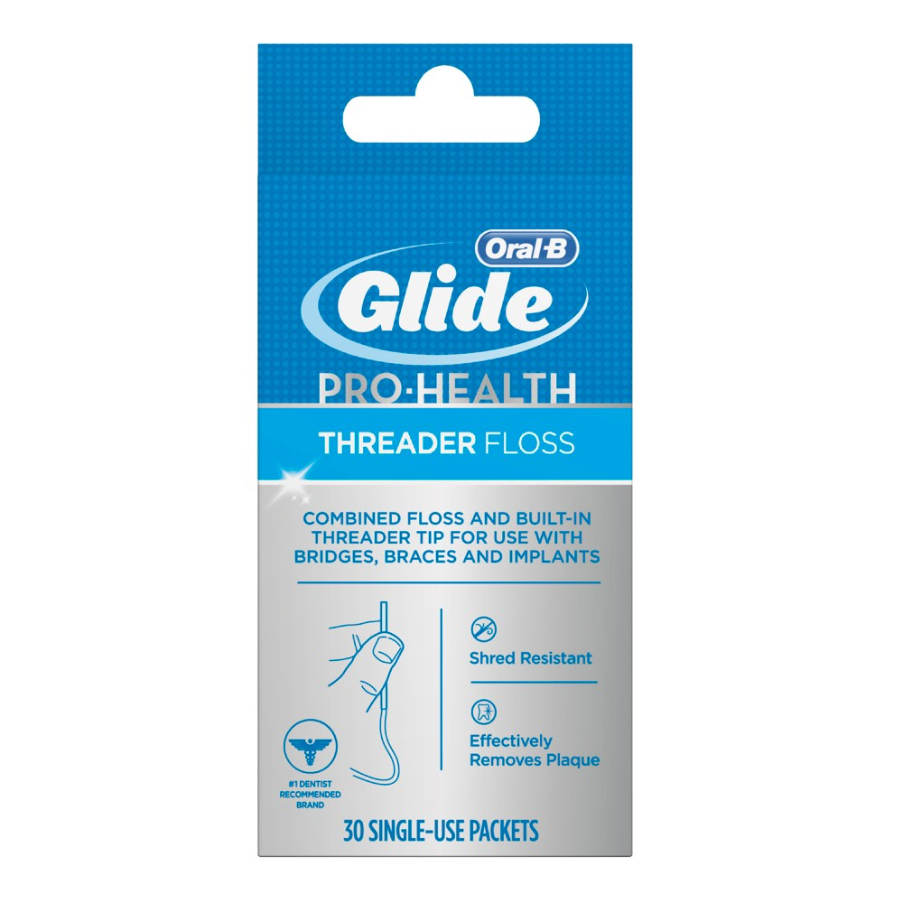 Image of Oral-B Glide Pro-Health Threader Floss - 30ct