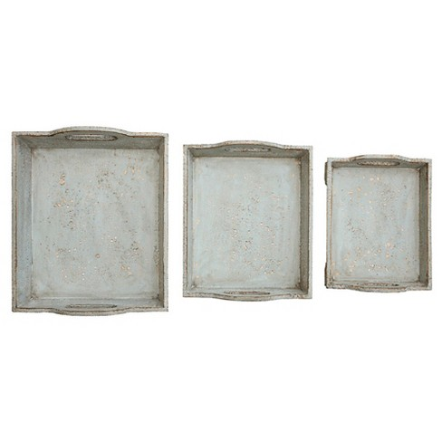 """Wood Tray set of 3 (17-1/8""""L) - image 1 of 3"""