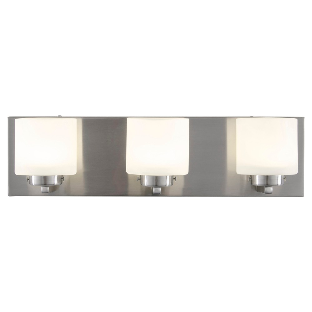 Image of Clean 3-Light LED Vanity - Satin Nickel