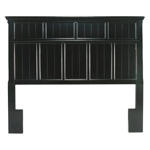 Sun & Pine Dakota Adjustable Wood Full/Queen Headboard in Black - image 1 of 3