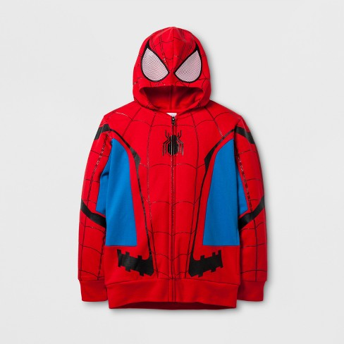 Boys' Marvel Sweatshirt - Red/Blue - image 1 of 2