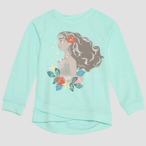 8a9e4d45 Toddler Girls' 2pk Disney Moana Long Sleeve And Short Sleeve T-Shirts -  Green/Gray : Target