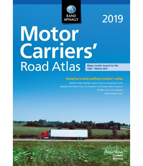 Rand Mcnally 2019 Motor Carriers' Road Atlas : Mcra -  (Paperback) - image 1 of 1