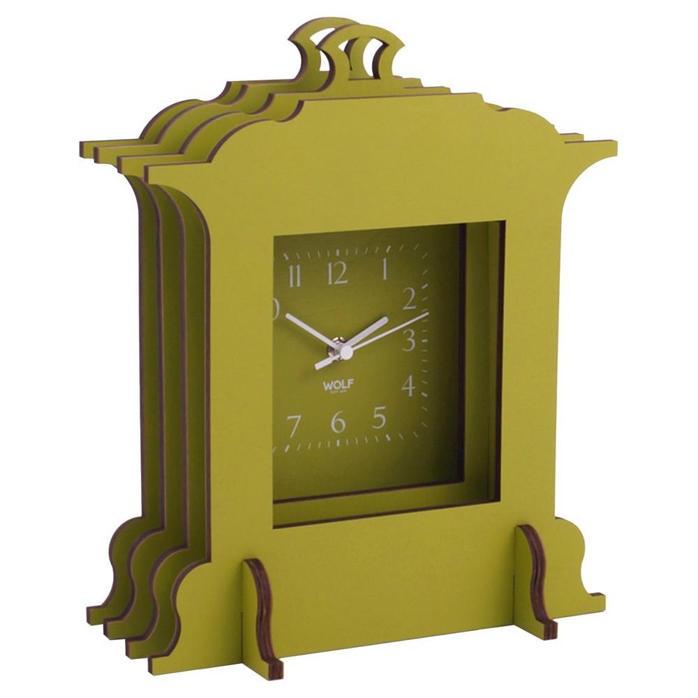 Image of Jigsaw Grand Mantel Clock Green - WOLF