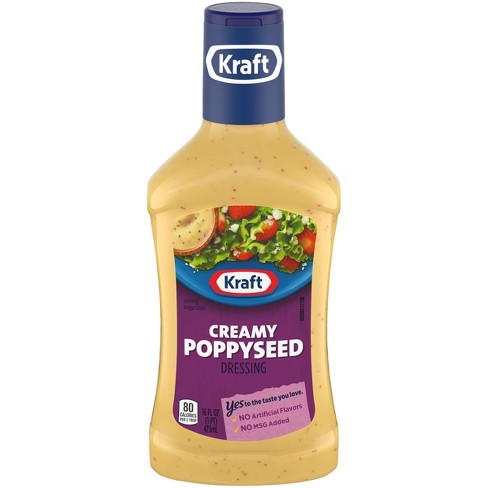 Kraft Creamy Poppyseed Salad Dressing - 16oz - image 1 of 4