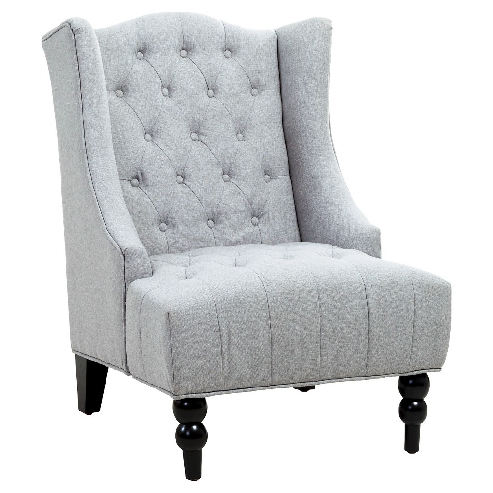 Toddman High Back Club Chair Silver - Christopher Knight Home, Gray