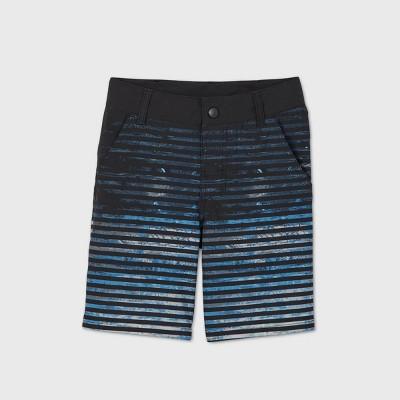 Boys' Thin Stripe Hybrid Swim Trunks - art class™ Black