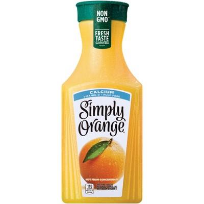 Simply Orange Pulp Free with Calcium and Vitamin D Juice - 52 fl oz